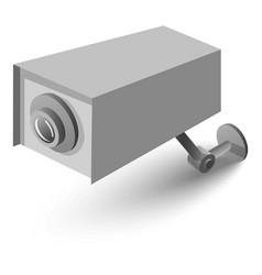 surveillance camera icon isometric 3d style vector image