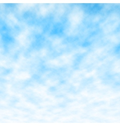 Fluffy blue sky vector image