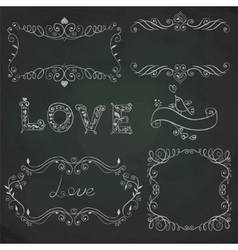 Hand drawn vignettes on the board vector image