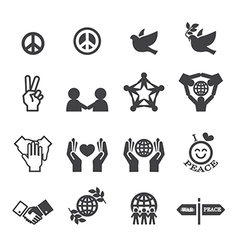 Peace icons vector