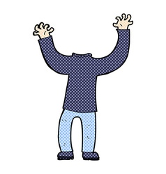 Comic cartoon headless body vector
