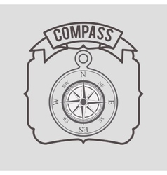 Compass emblem design vector