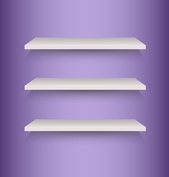 Book shelves on violet background vector