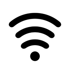 Wi-fi icon black vector