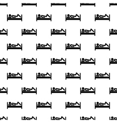Stick man pattern seamless vector