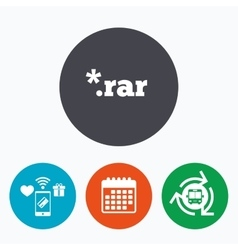 Archive file icon download rar button vector
