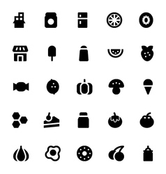 Food and drinks icons 3 vector