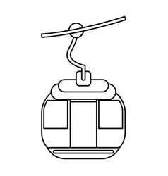 Cable car transport vector