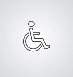 cripple outline symbol dark on white background vector image