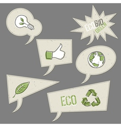 ecology icons in speech bubbles collection vector image