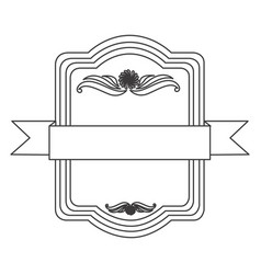 Figure square emblem icon vector
