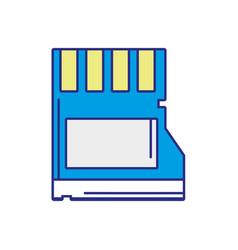Full color micro sd memory data technology vector