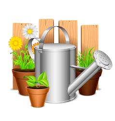 Garden equipment vector image vector image