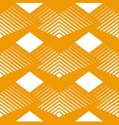 Geometrical seamless pattern rhombuses line vector