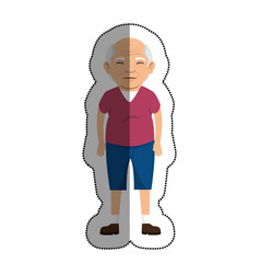 grandfather with sport clothes avatar character vector image vector image