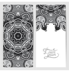 grey decorative label card for vintage design vector image
