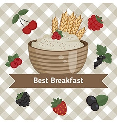 Healthy breakfast concept vector image