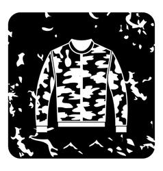 Jacket icon grunge style vector image
