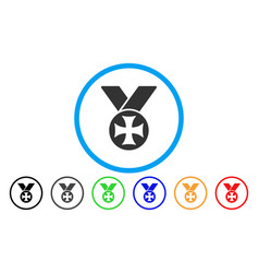 Maltese medal rounded icon vector