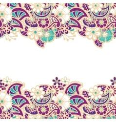 Mehndi horizontal backrtound vector image