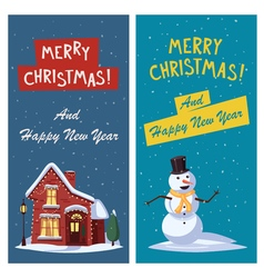 Merry Christmas banner Cartoon vector image