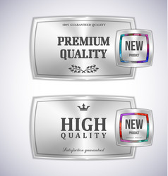 Mosaic metal label shopping vector