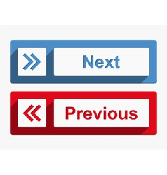 Next and previous buttons vector
