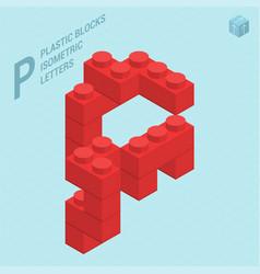 plastic blocs letter p vector image vector image