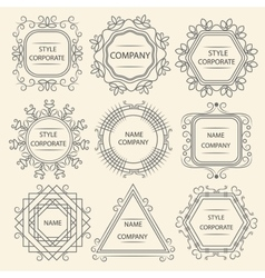 Set logo design company vector image vector image