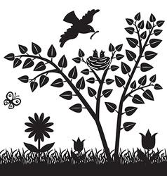 spring bird vector image vector image