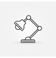 table-lamp icon vector image