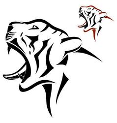 Tiger head symbol vector