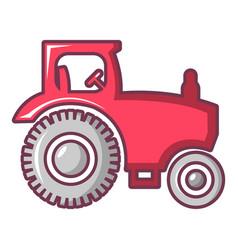 Tractor icon cartoon style vector