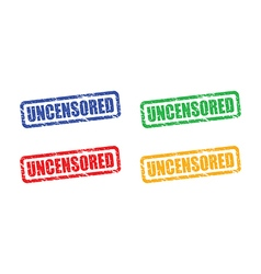 uncensored set vector image vector image