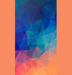 vertical polygonal background for your smartphone vector image vector image