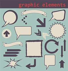 graphic elements set vector image