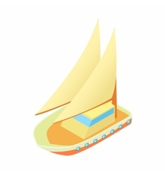 Seagoing vessel icon cartoon style vector