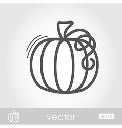 Pumpkin outline icon harvest thanksgiving vector
