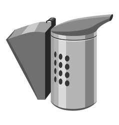 Beekeeping smoker icon gray monochrome style vector