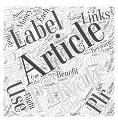 Private label articles benefits of why you should vector