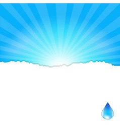 Background with water drop vector