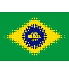Halftone Flag of Brazil vector image
