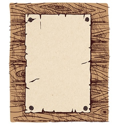 Old paper on a wooden wall vector