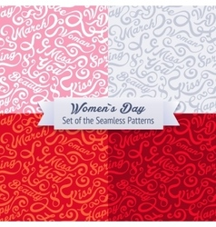 Womens day set of the seamless patterns vector