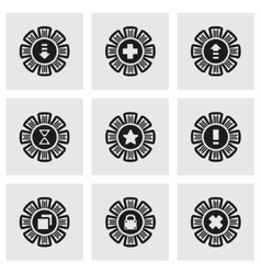 Archive icon set vector