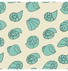 Blue shell pattern on the gray background vector