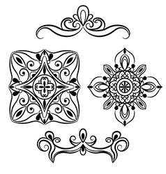 Set ornamental element for design vector