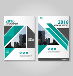 Triangle annual report leaflet brochure vector
