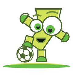 Football player character vector image