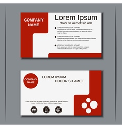 Visiting card design template vector